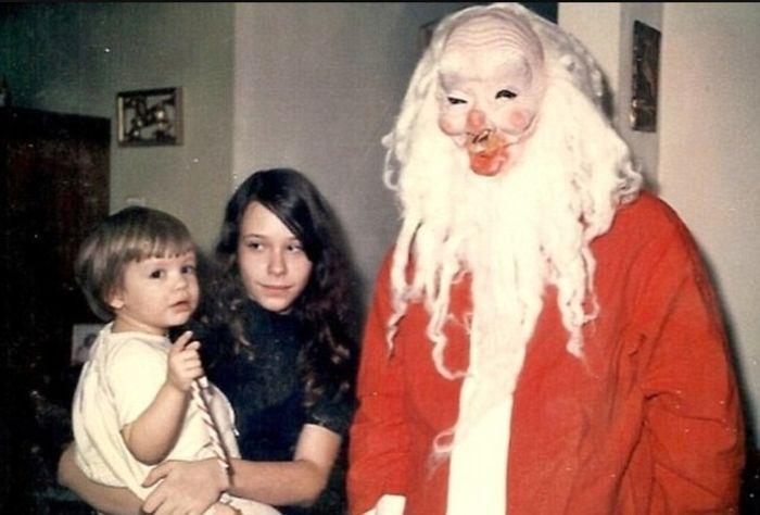 Scary Vintage Santas