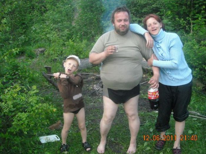 Strange People from Russian Social Networks