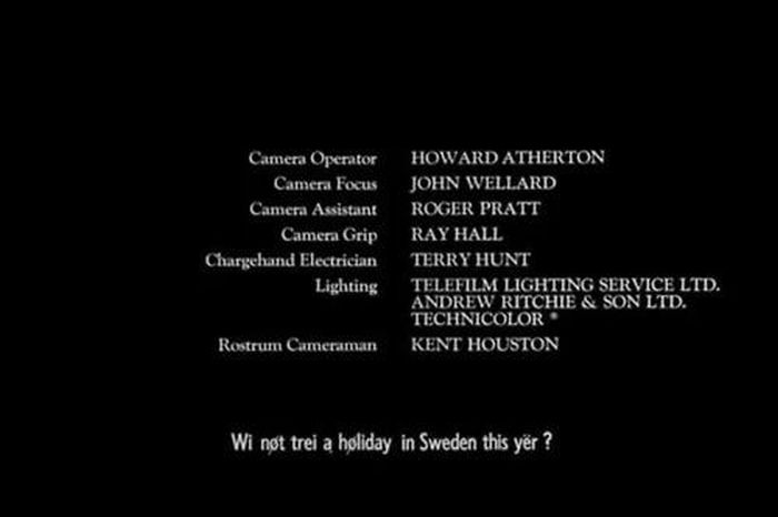 Funny Moments in Movie Credits