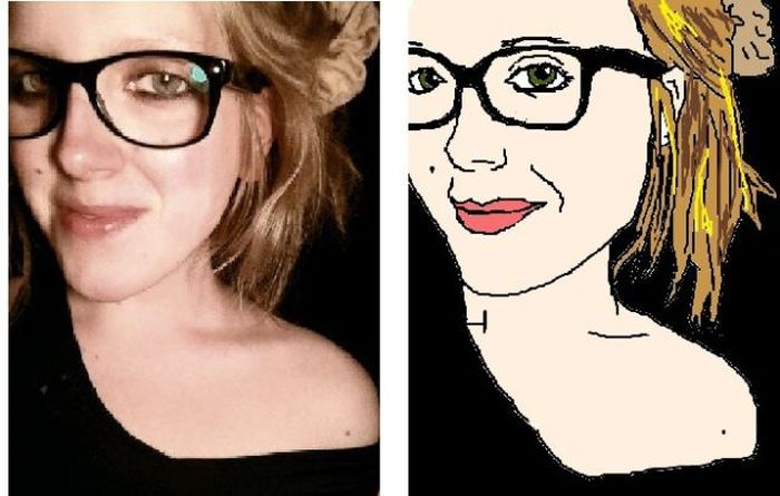 MS Paint Portraits of Twitter Followers