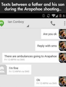 Texts Between a Father and His Son During the Arapahoe Shooting