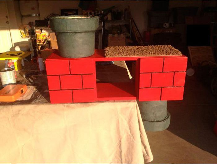 Super Mario Cat Shelf