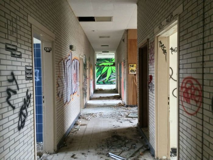 Graffiti Inside An Abandoned Nursing Home Art
