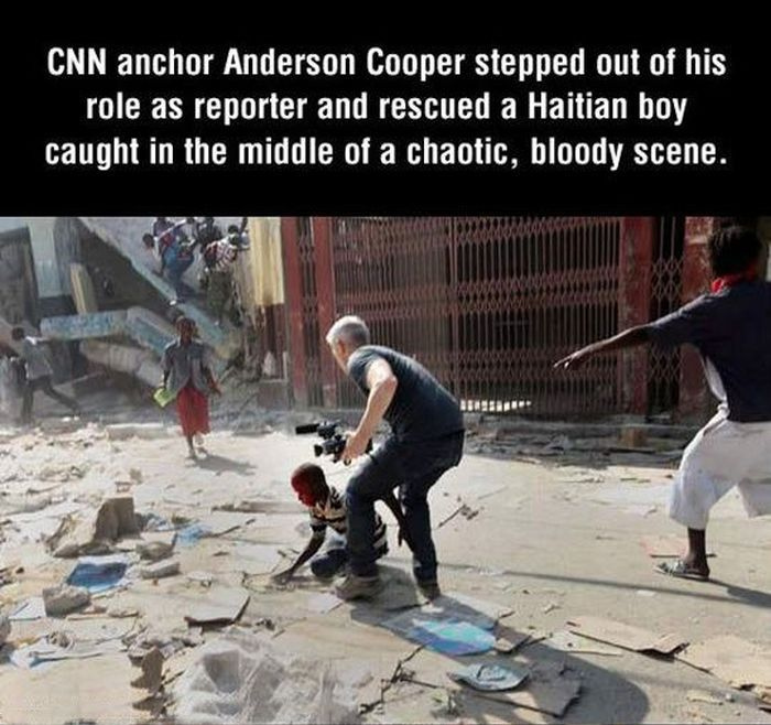 Anderson Cooper Rescues a Kid