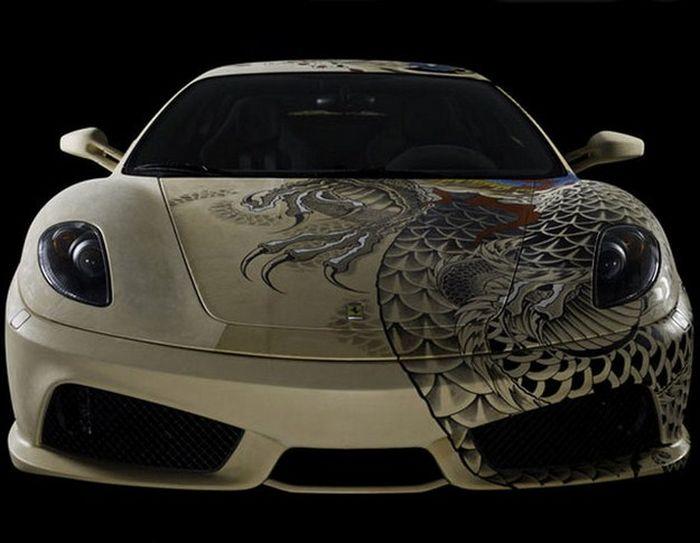 Tattooed Ferrari F430