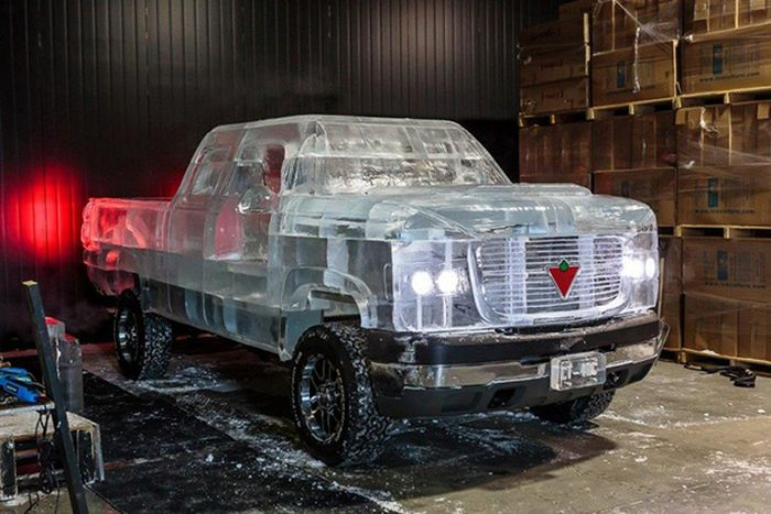 Fully Functional Truck Made From Ice