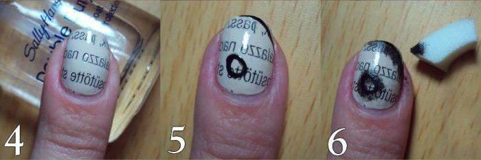 Burnt Paper Nails