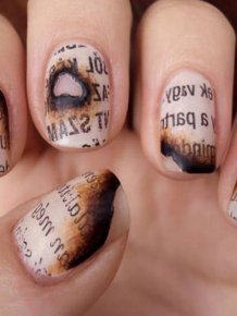Burnt Paper Nails