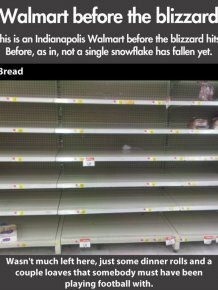 Walmart Before the Blizzard
