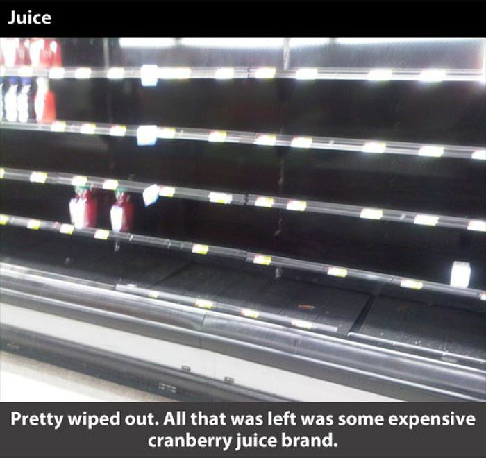 Walmart Before the Blizzard