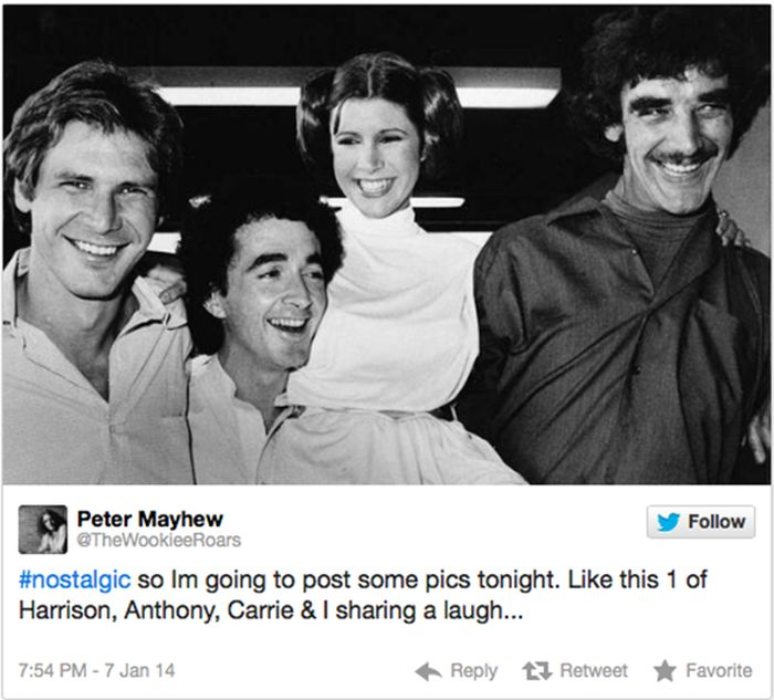 Peter Mayhew on Twitter