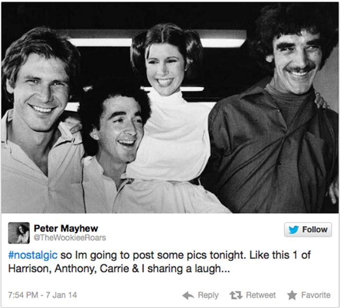 Peter Mayhew on Twitter