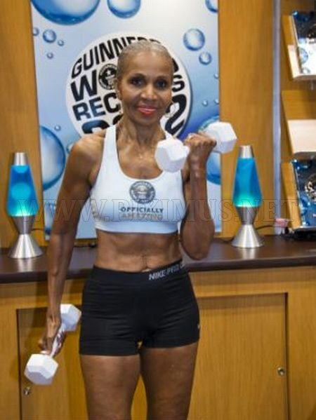 74-Year-Old Woman with a Six-Pack