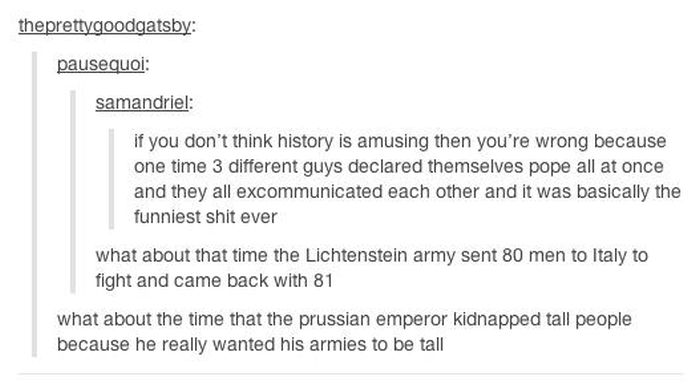 History According to Tumblr