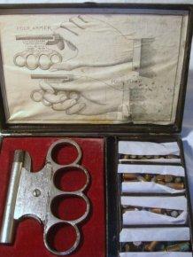 Vintage Brass Knuckles Gun