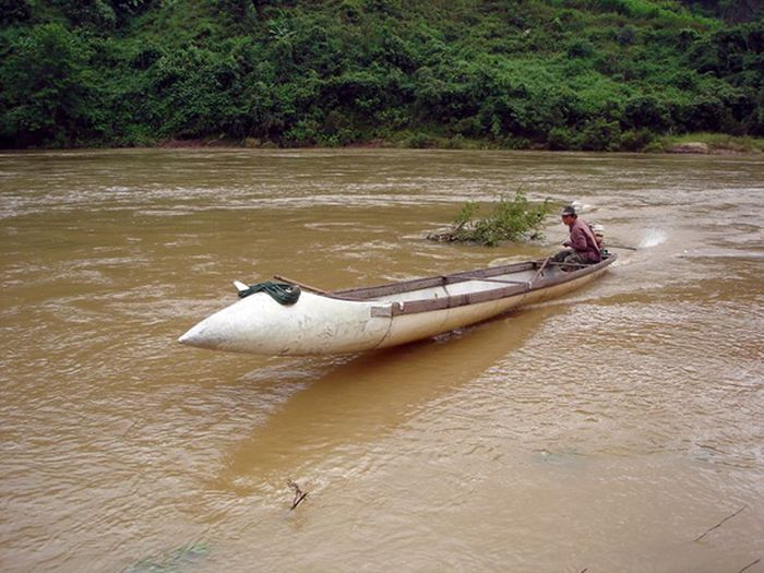 Canoes Made Out of Fighter Jet Fuel Tanks