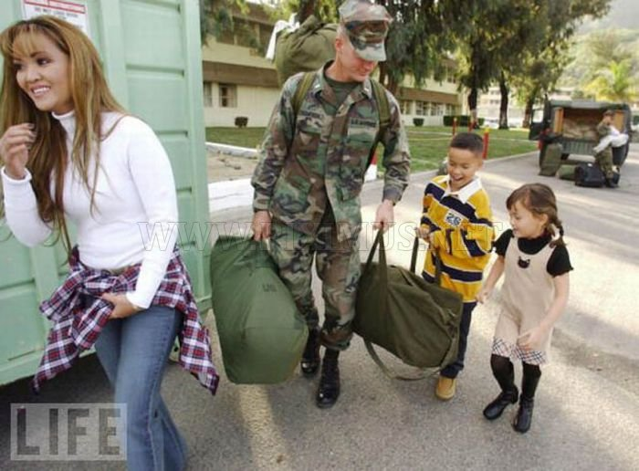 Soldiers Leave and Come Back Home