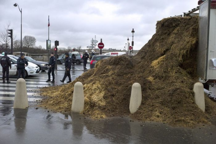 Stinky Protest in France
