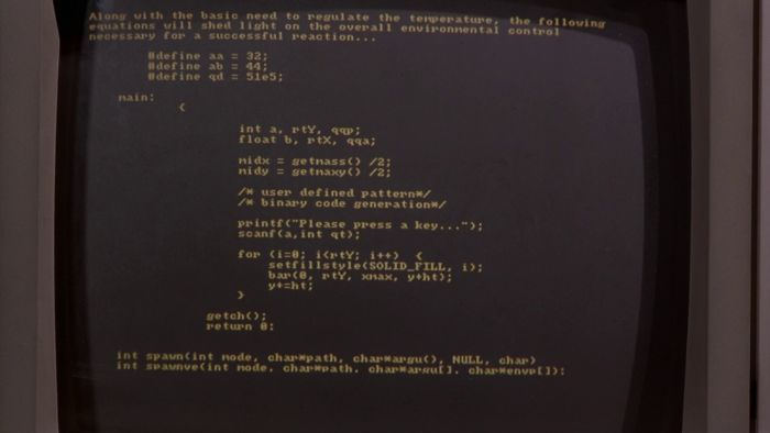Source Code in TV and Films