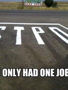 You Had One Job