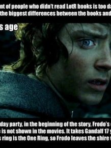 LotR. The Differences Between the Books and the Movies
