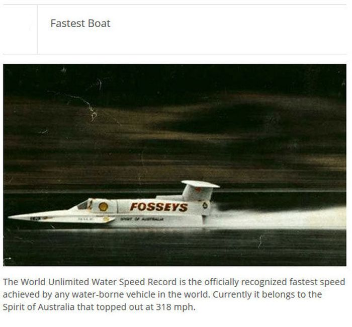 The Fastest Things In The World