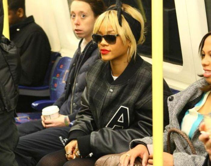 Celebrities on the Subway