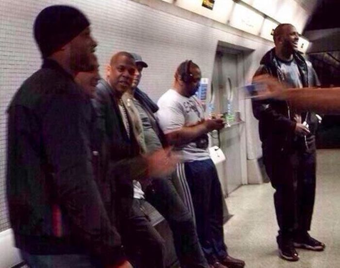 Celebrities on the Subway