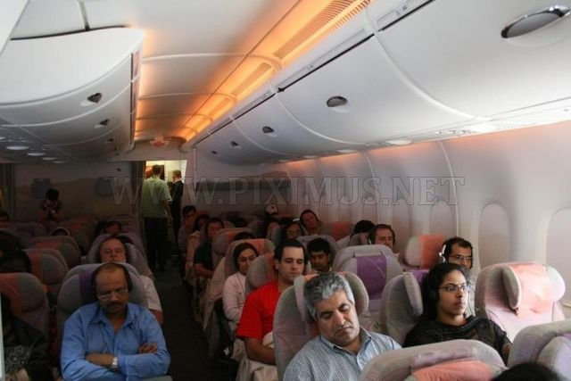 On board Emirates A380