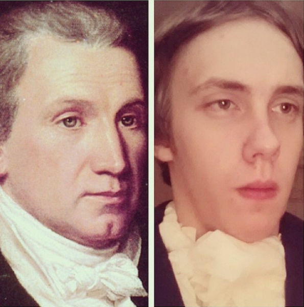 Chaz Rorick Tries Out the Faces of the US Presidents