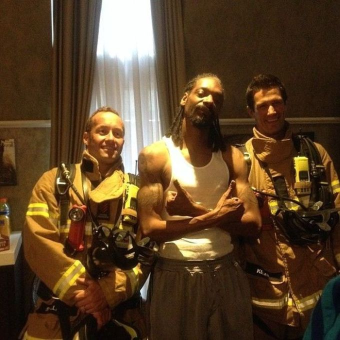 Snoop Dogg and Firefighters