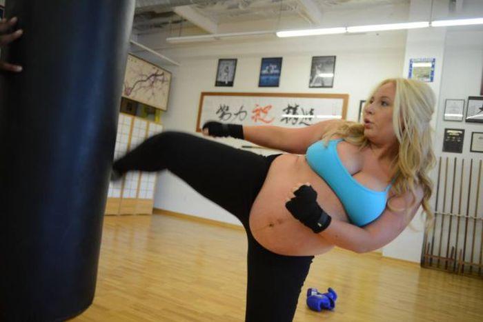 Pregnant Kickboxer