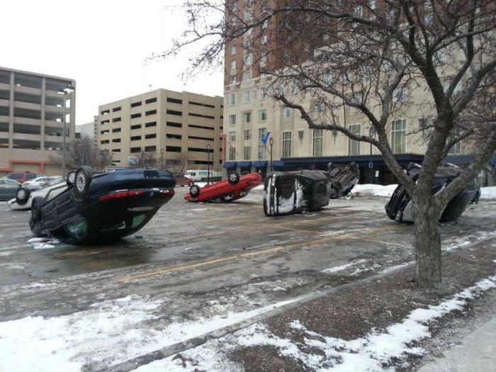 Upside Down Cars