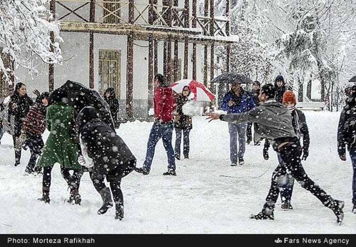 Snowstorm in Iran
