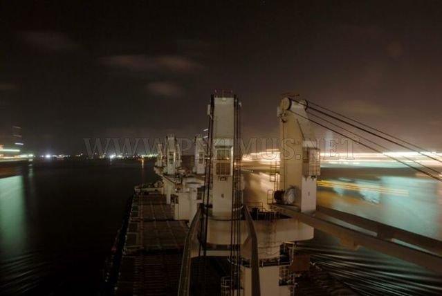 Great views from a cargo ship