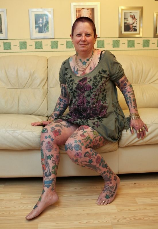 Grandmother with 286 Tattoos