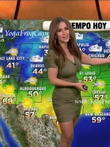 Busty Weather Girl Jackie Guerrido
