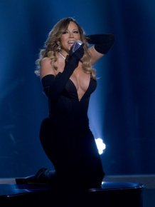 Mariah Carey Got Beautiful Cleavage