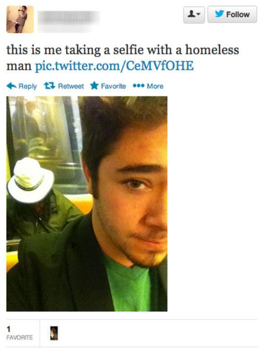 Posing with Homeless People is a New Selfie Trend