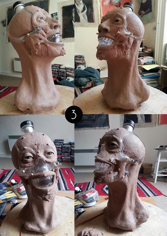 The Face of Crystal Head Vodka Bottle