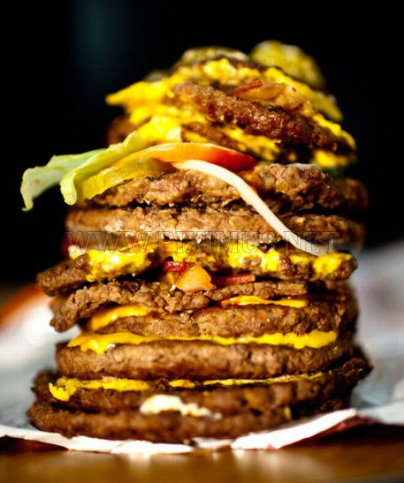 Real Burgers vs Ad Burgers