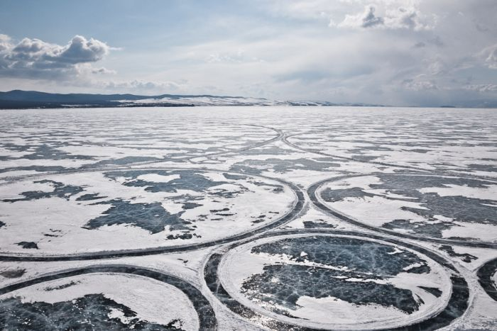 Lake Baikal Surface Artwork