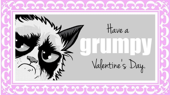 Valentine's Day Cards of the Grumpy Cat