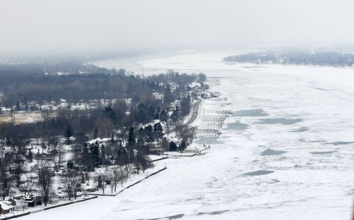 The Great Lakes Are Nearly Frozen Over For The First Time In 20 Years