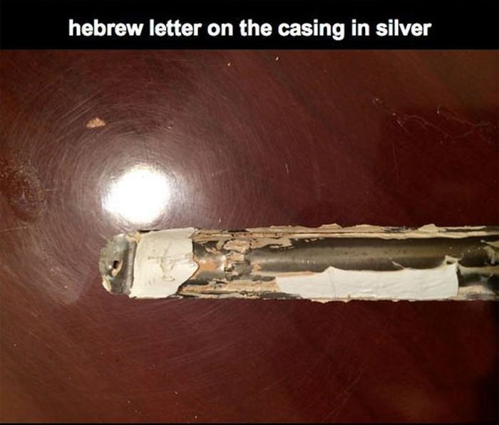 Discovered Letters in Silver Cases Encrusted in The Door