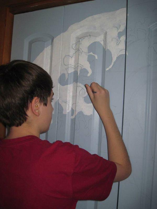 Closet Door Painting