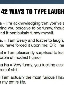 The 42 Ways to Type Laughter
