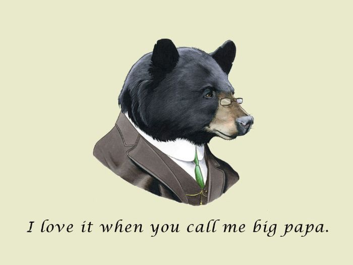 well dressed animals with rap quotes fun