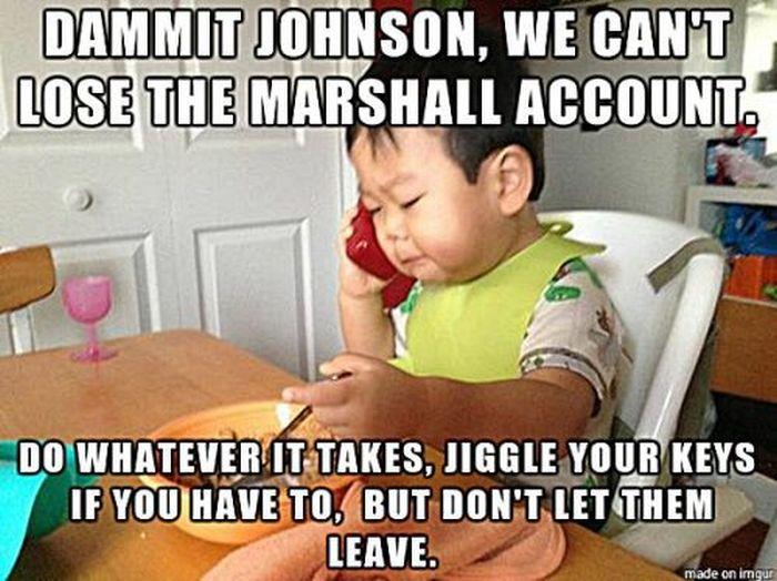 Funny Baby Meme Creator : The business baby meme fun