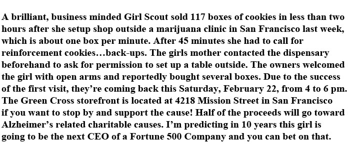 This Girl Scout Has a Brilliant Business Idea